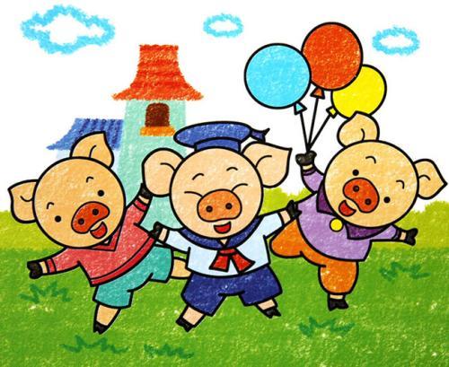 音乐童话绘本:三只小猪
