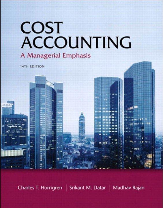 标题:成本会计:管理的着重点  出版社:人民教育出版社  作者:Charles T. Horngren(Stanford U